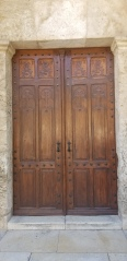 The front door to the Church of Saint Anne.