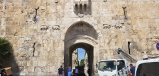 We exited the Old City through Saint Stephen's Gate or the Lion Gate, because of the lions on either side of the gate.